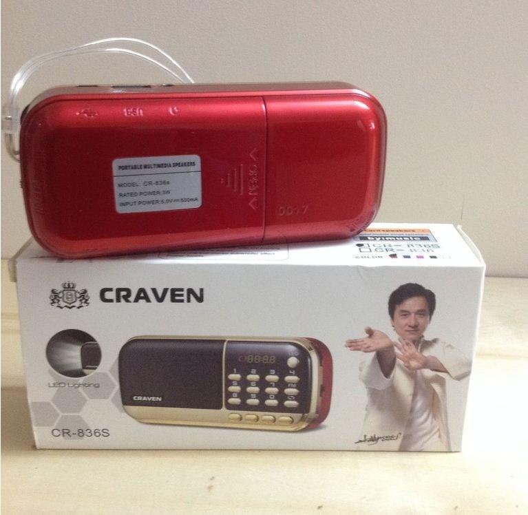 Đài  836s USB thẻ nhớ nghe đài FM có đèn pin hàng nhập khẩu