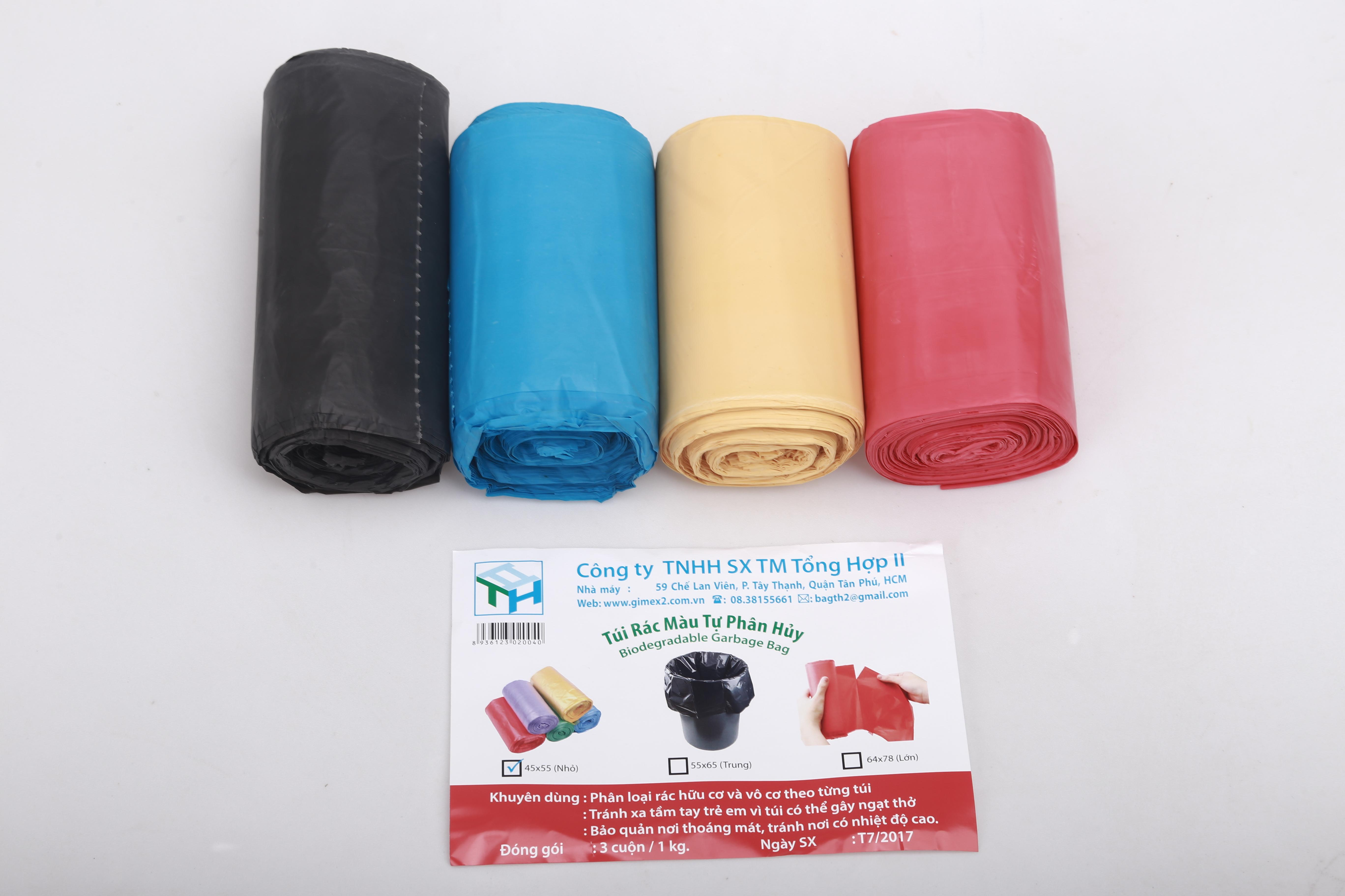 1 Kg túi đựng rác đen, size tiểu 45 x 55 cm cm, thương hiệu Nhựa tổng hợp 2