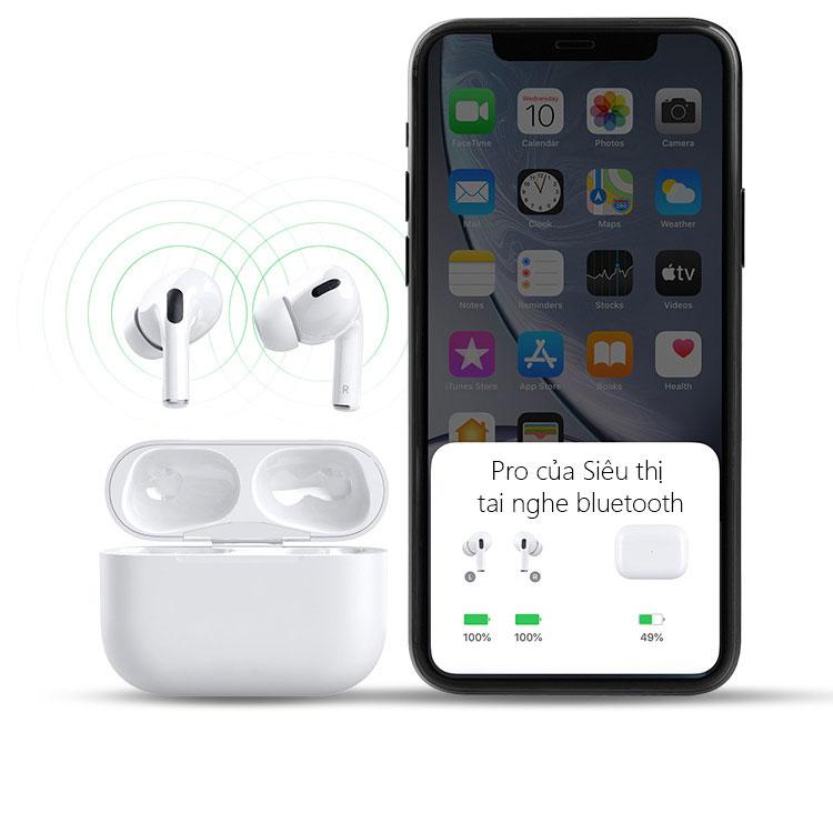 Tai nghe bluetooth 5.0 TWS Air Pro - Định vị + Đổi tên thiết bị và Tháo tai nghe dừng nhạc APPRO0- HÀNG CHÍNH HÁNG SINO