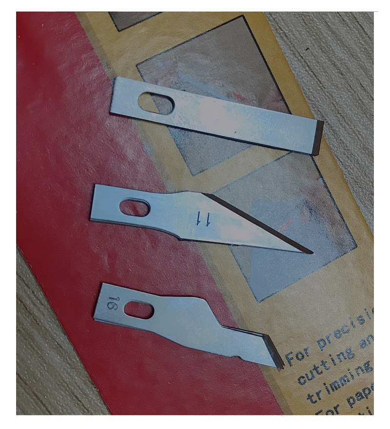 Dao Tách Kie Cao Cấp, 3 Loại Lưỡi Dao, mỗi loại 3 lưỡi tổng 9 lưỡi thay thế - Dao tách Ki Lan - Dao Tách Lan