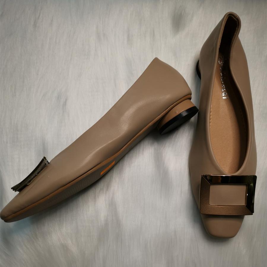 Giày Búp Bê Thời Trang Cao Cấp - Siêu Dễ Thương - Màu Hồng Da