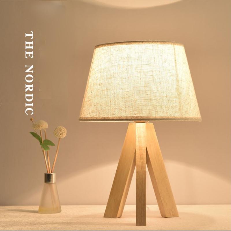 Đèn ngủ để bàn - đèn ngủ trang trí - đèn ngủ gỗ - đèn ngủ đầu giường cao cấp LUCICI kèm bóng LED