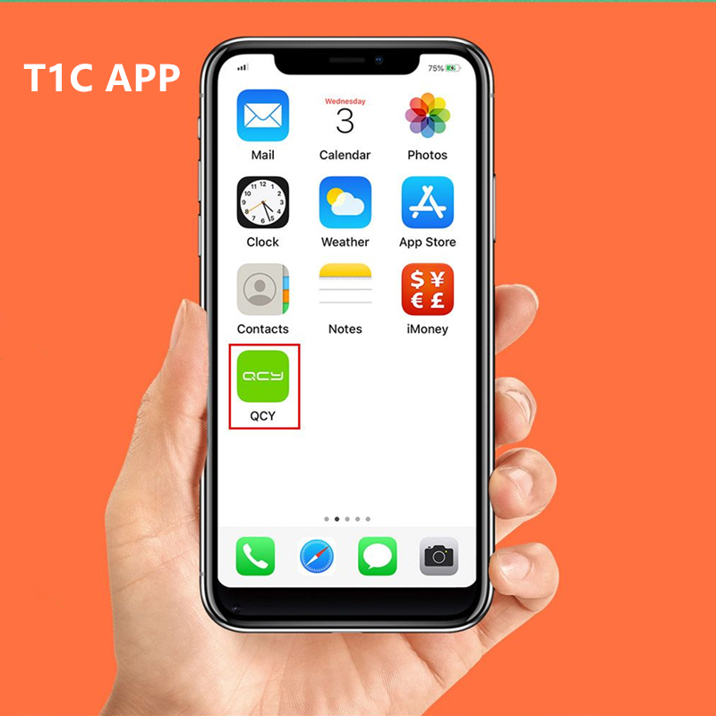 Tai Nghe True Wireless Không Dây QCY T1C APP+ Bluetooth V5.0 - Hàng Chính Hãng