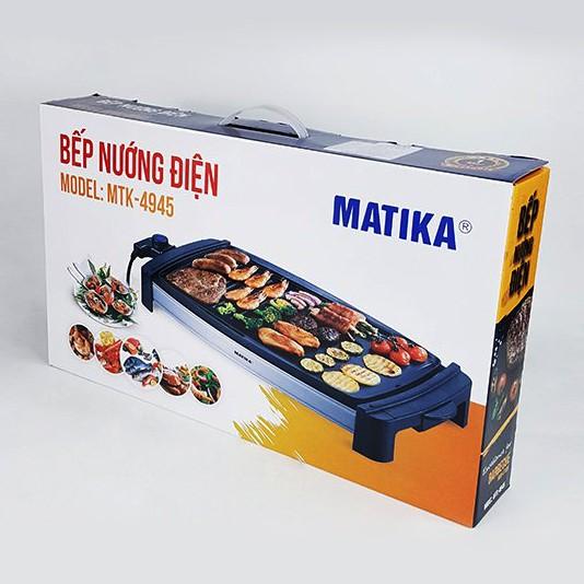 [Hàng chính Hãng]Bếp nướng điện, bàn nướng điện chống dính Matika 4945, công suất 2000W, 5 cấp độ nướng.