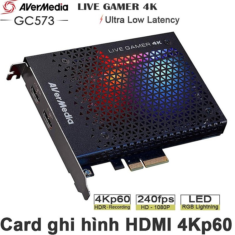 Thiết Bị Ghi Hình HDMI 4K60p HDR - Live Gamer 4K Avermedia GC573 - Hàng Chính Hãng