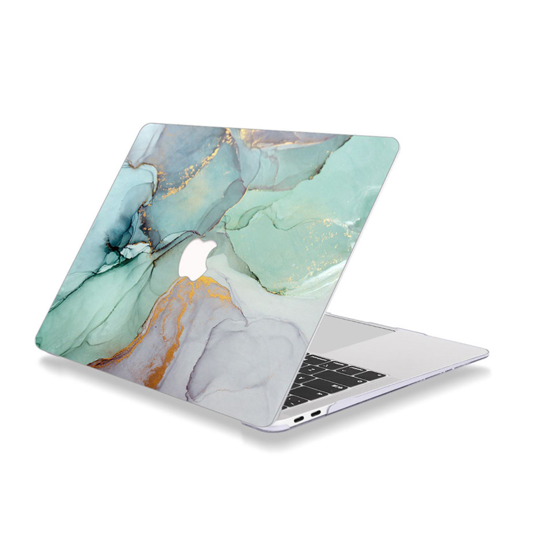 Case ốp nhựa ABS bảo vệ macbook đủ dòng siêu mỏng nhẹ không nóng máy hoạ tiết vân đá cẩm thạch màu xanh ngọc