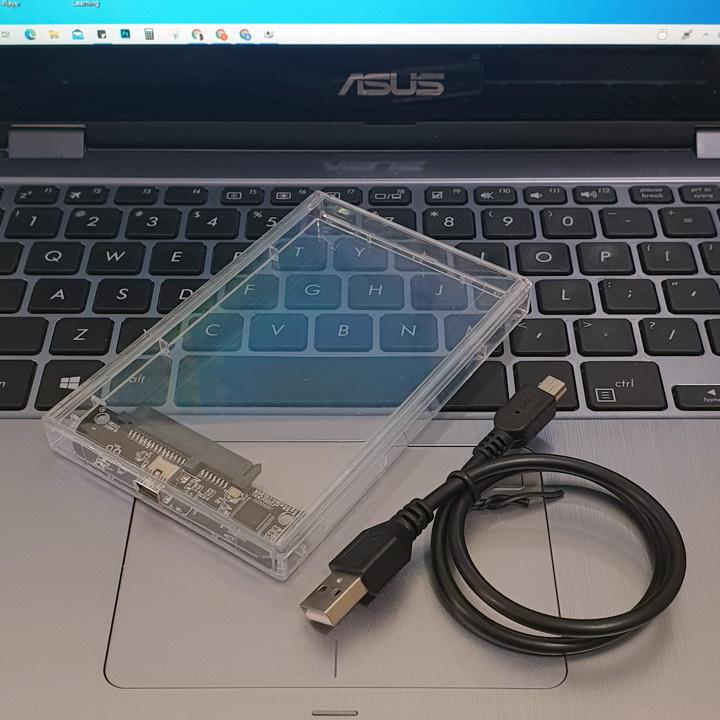Box ổ cứng 2.5 inch SATA trong suốt