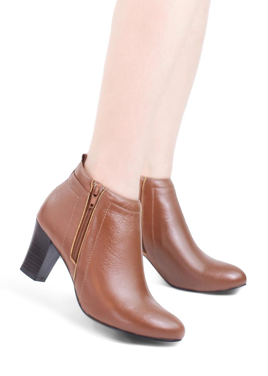 Giày Boot Nữ 6P Da Thật Pixie P039