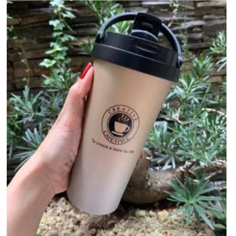 Ly cafe giữ nhiệt mang phong cách hàn quốc