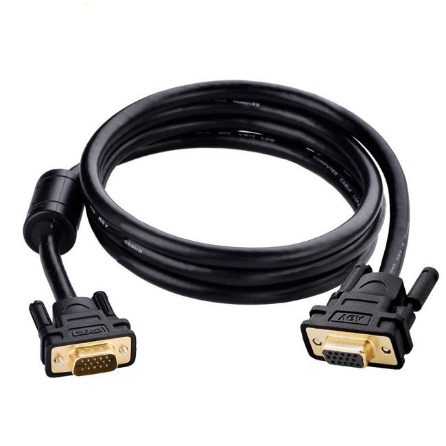 Cáp tín hiệu nối dài VGA dài 2M màu đen UGREEN GK11614VG103 Hàng chính hãng