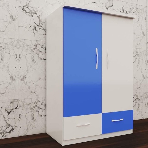 Tủ nhựa đài loan 2 cánh 2 ngăn xanh trắng (cao 1m15 x rộng 85cm x sâu 45cm)