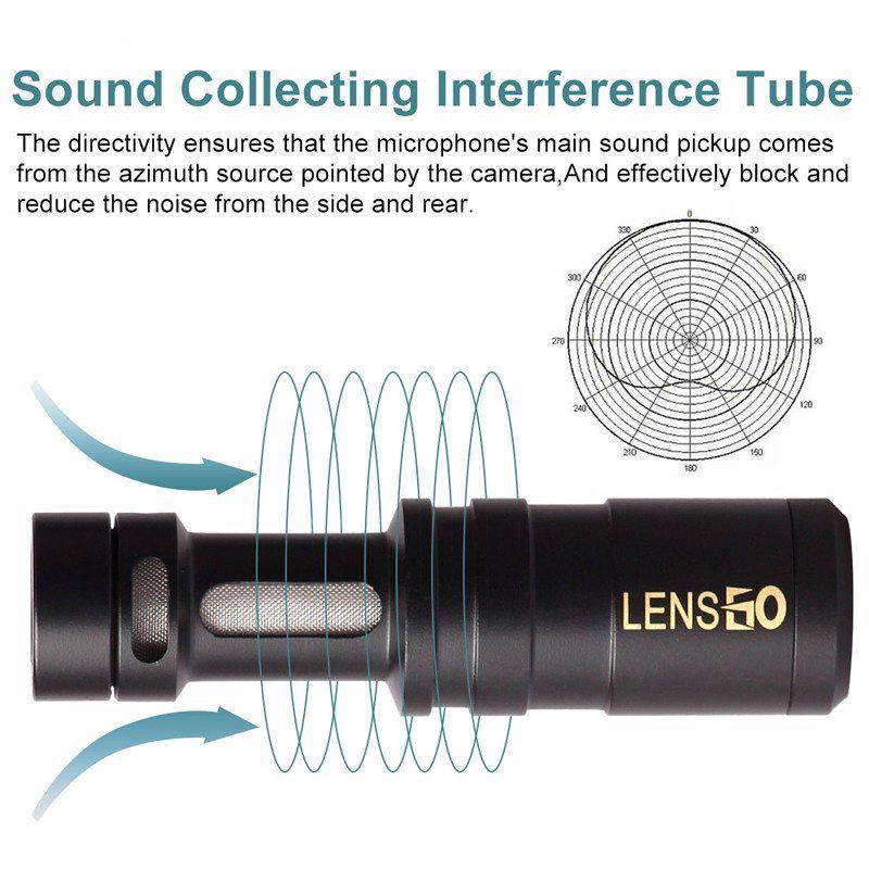 Lensgo LYM-DMM1 - Micro Condenser Thu Âm Cho Máy Ảnh, Điện Thoại, Hướng Thu Cardioid - Hàng Chính Hãng