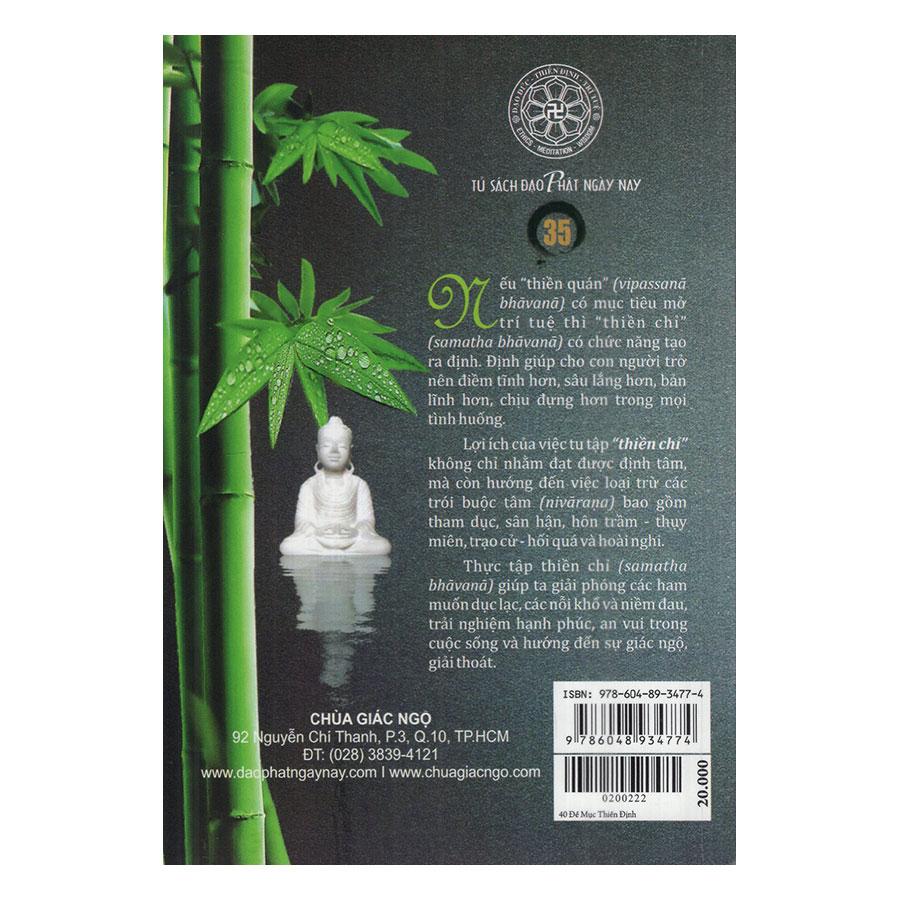 Combo 40 Đề Mục Thiền Định + Thiền Chỉ Thiền Quán Và Lợi Ích Của Thiền