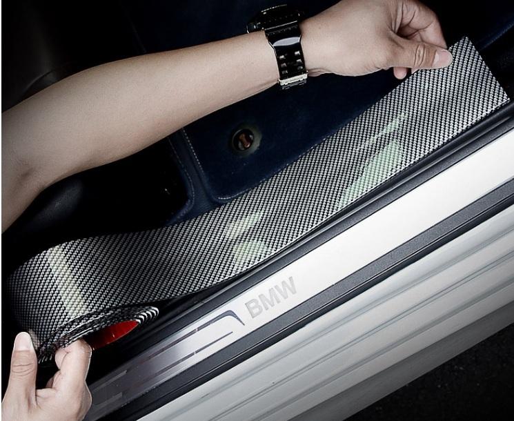 Nẹp Cao Su Carbon Trang Trí Xe Và Chống Trầy Xước-Bản rộng 5cm