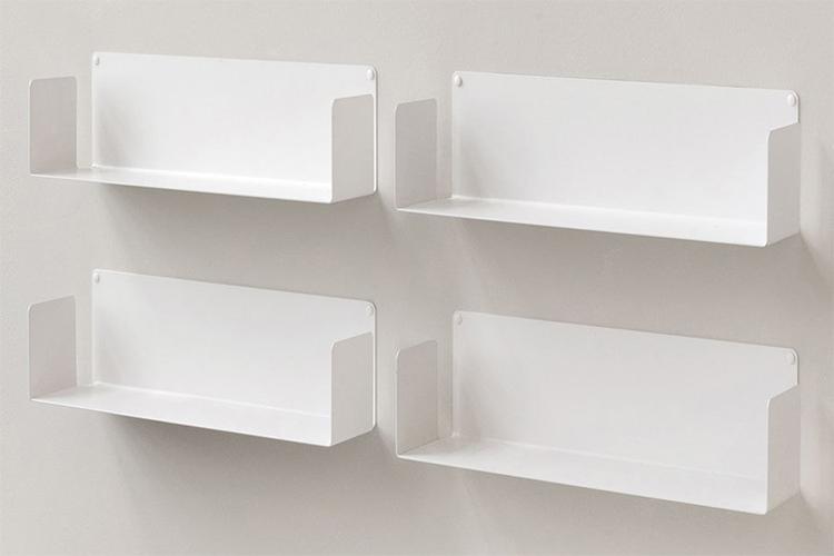 Combo 2 Kệ Sách Treo Tường Smlife Chữ U 45 (45 x 15 x 15 cm ) - Trắng