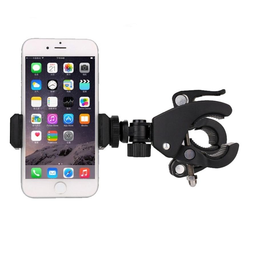 Giá đỡ kẹp điện thoại gắn vào tripod hỗ trợ livestream, quay phim nhiều máy cùng lúc, gắn xe đạp