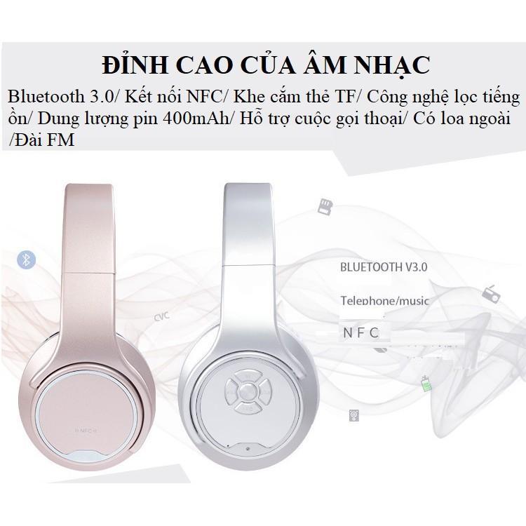 Tai Nghe Chụp Tai ️️ Tai Nghe Bluetooth Cao Cấp Lọc Tiếng Ồn - Tai Nghe Chống Ồn MH1 Dung Lượng Pin Lớn