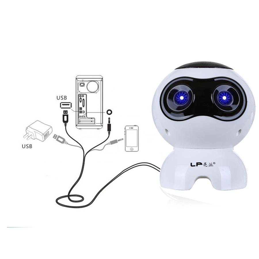 Loa vi tính laptop để bàn loa nghe nhạc mini S100 hình Robot âm thanh siêu trầm sống động hàng nhập khẩu