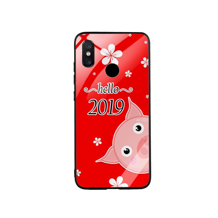 Ốp Lưng Kính Cường Lực cho điện thoại Xiaomi Mi 8 - Hello 20192