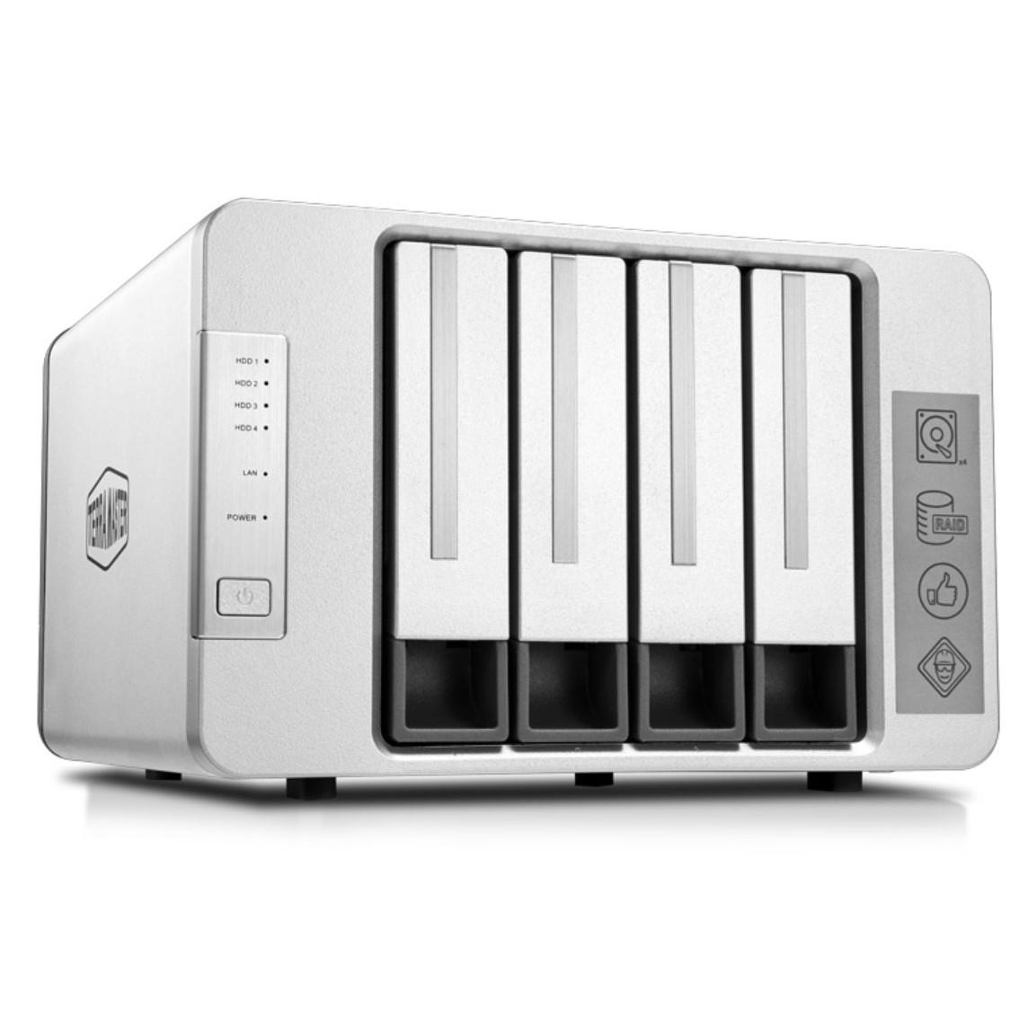 NAS TerraMaster F4-421, Intel Quad-core CPU 1.5GHz, 4GB RAM, 4 HDD bays - Hàng chính hãng