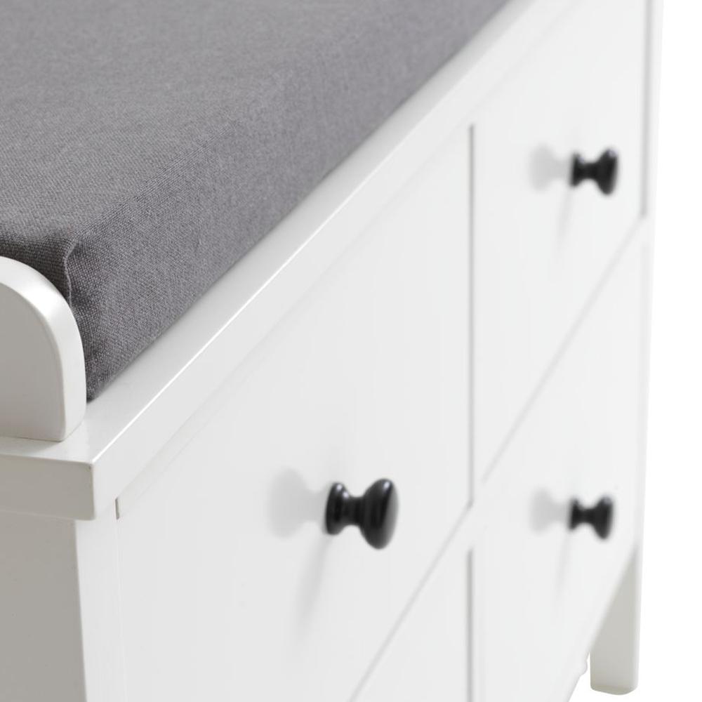 Ghế băng JYSK Terpet 4 ngăn kéo gỗ công nghiệp trắng R81xS40xC52cm