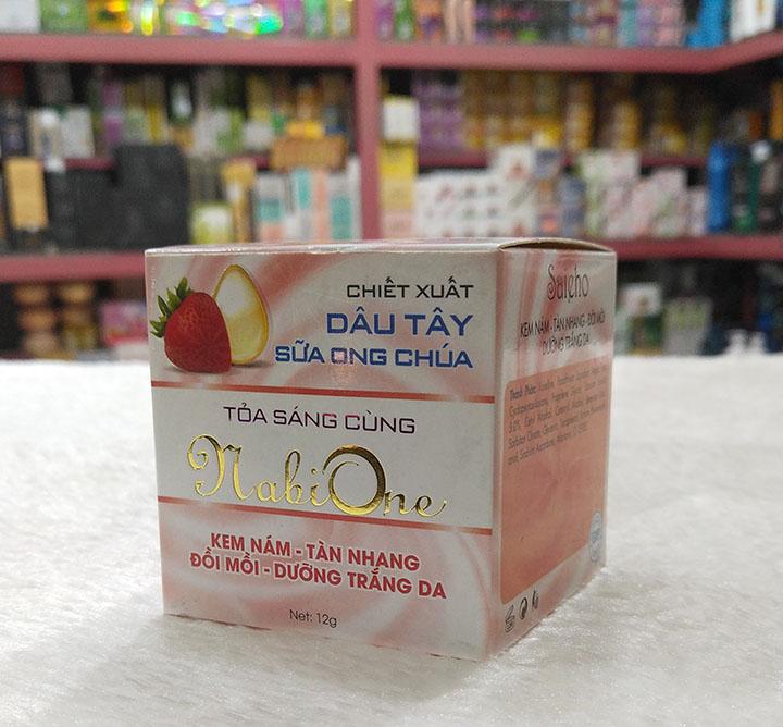 Nabione kem nám - tàn nhang - đồi mồi - dưỡng trắng da 12g