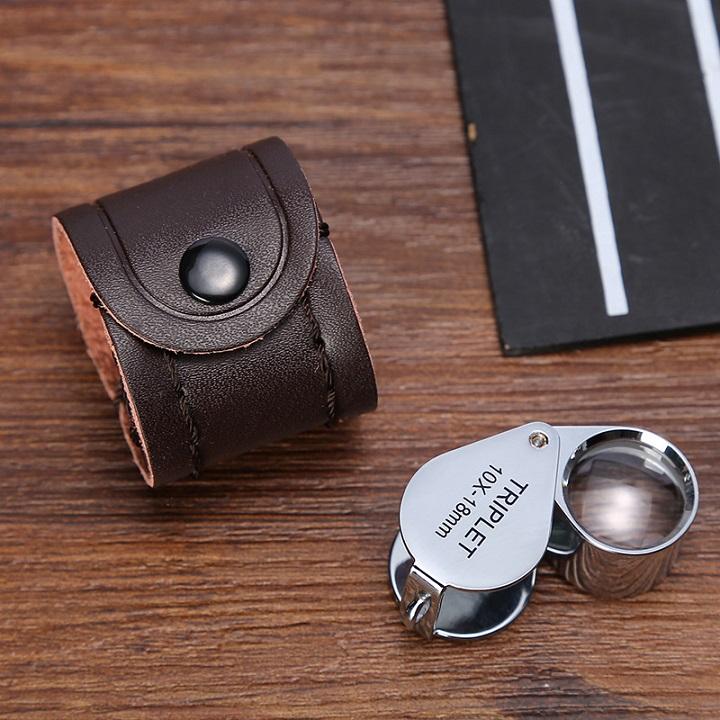Kính lúp cầm tay mini thông minh, độ phóng đại 10 lần, hình giọt nước- Màu ngẫu nhiên (Tặng móc khóa tô vít đa năng 3in1)