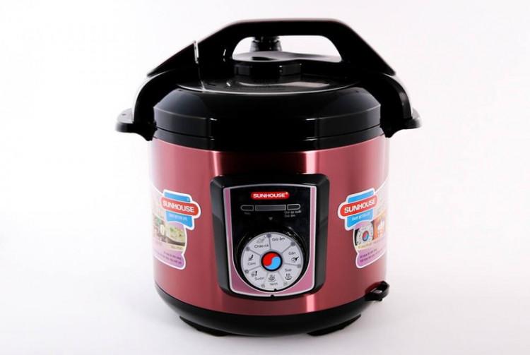 Nồi áp suất điện đa năng SUNHOUSE SHD1755 đỏ 004