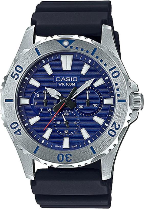 Đồng hồ nam Casio dây nhựa MTD-1086-2AVDF (45mm)