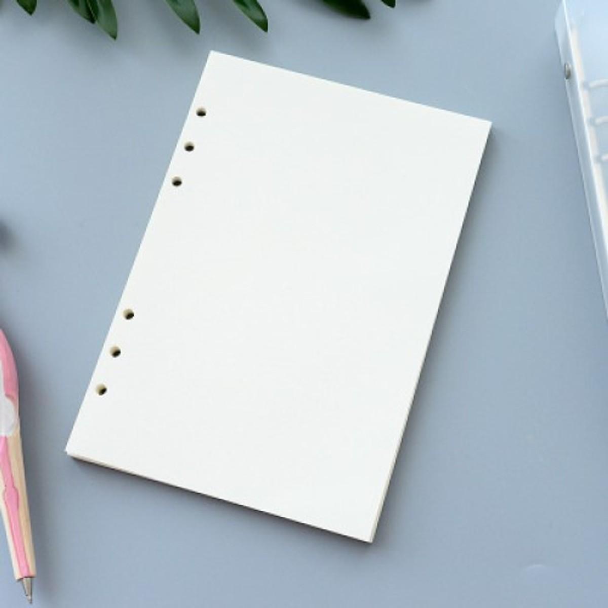 Tập giấy refill trắng trơn 6 lỗ cỡ A5 - 210x142mm