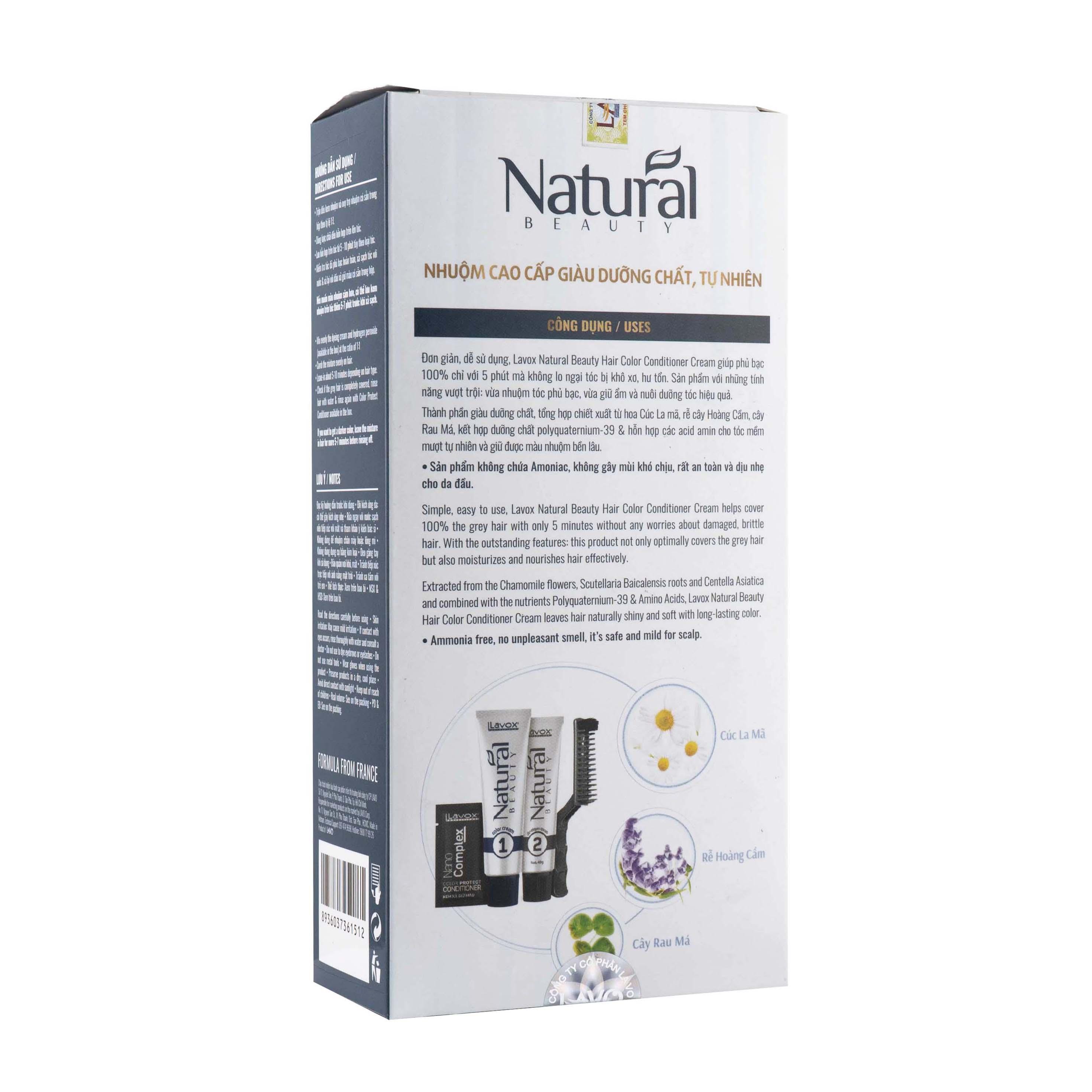 Nhuộm Phủ Bạc Cao Cấp Siêu Dưỡng,Tự Nhiên - Lavox 40 ML - N.683-Natural Brown-Nâu tự nhiên