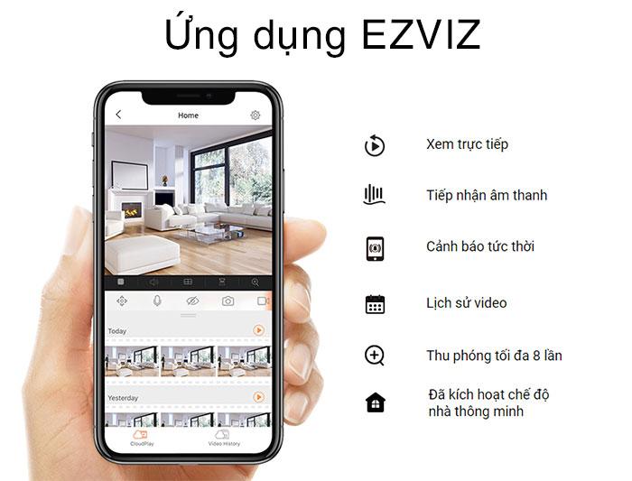 Dễ dàng kết nối và sử dụng quaApp EZVIZ