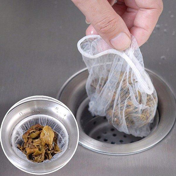 Bộ 2 gói gồm 200 túi lọc rác bồn rửa thông minh có thể tái sử dụng