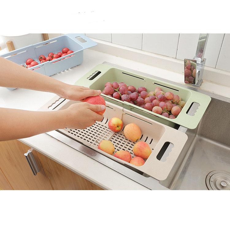 Rổ rửa gấp gọn nhà bếp đa năng ( Màu ngẫu nhiên)