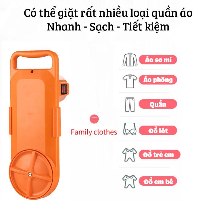 Máy giặt mini tại xô DEKE GT-16AC tiết kiệm điện cho sinh viên và em bé có hẹn giờ và đảo chiều