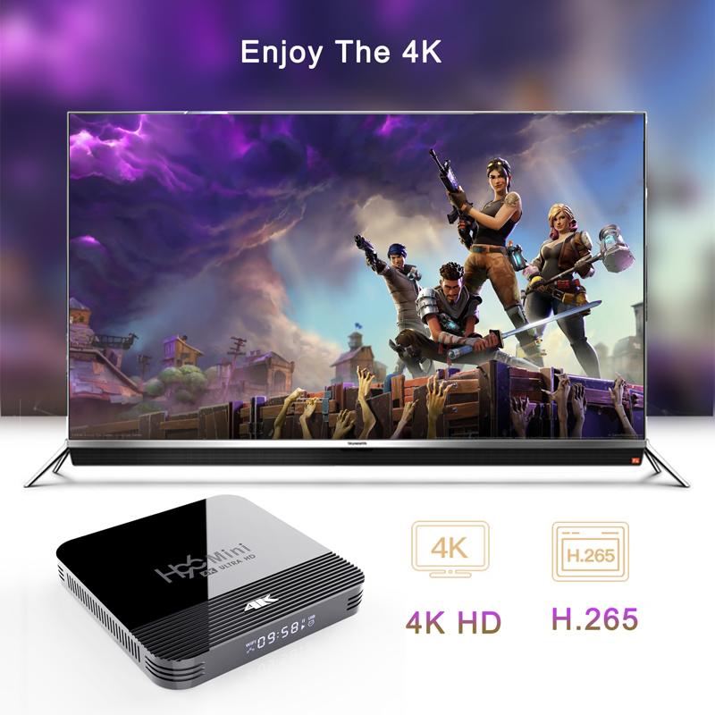Android TV BOX, tivi box RAM 2G, Bộ nhớ 16G, xem phim 4K, hỗ trợ tính năng tìm kiếm bằng giọng nói mới nhất hiện nay H96MINIH8