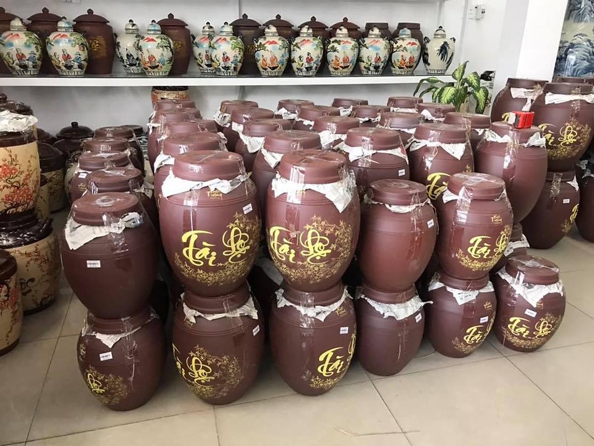 Chum sành đựng rượu gạo loại 20L gốm sứ Bát Tràng