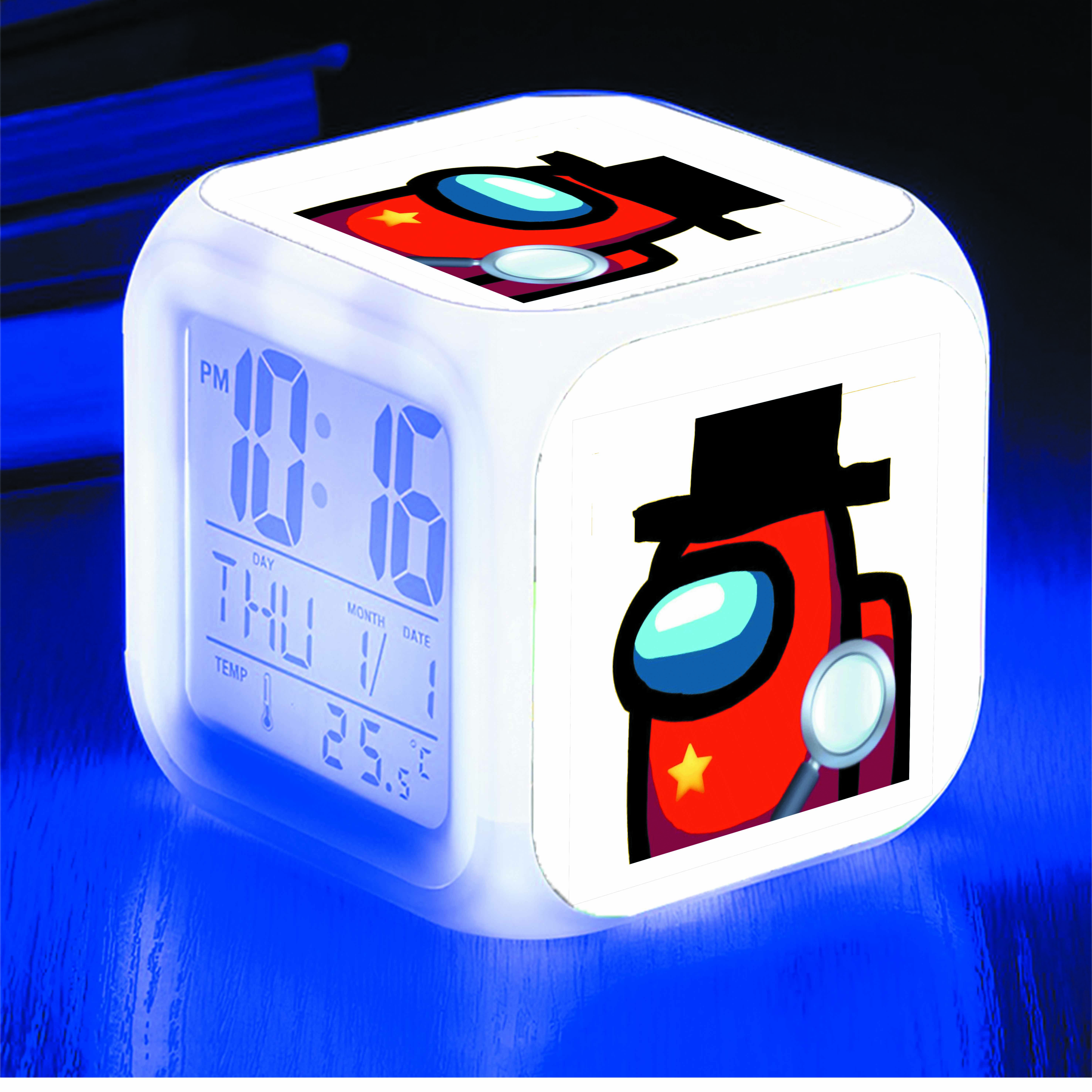 Đồng hồ báo thức để bàn IN HÌNH Among Us game
