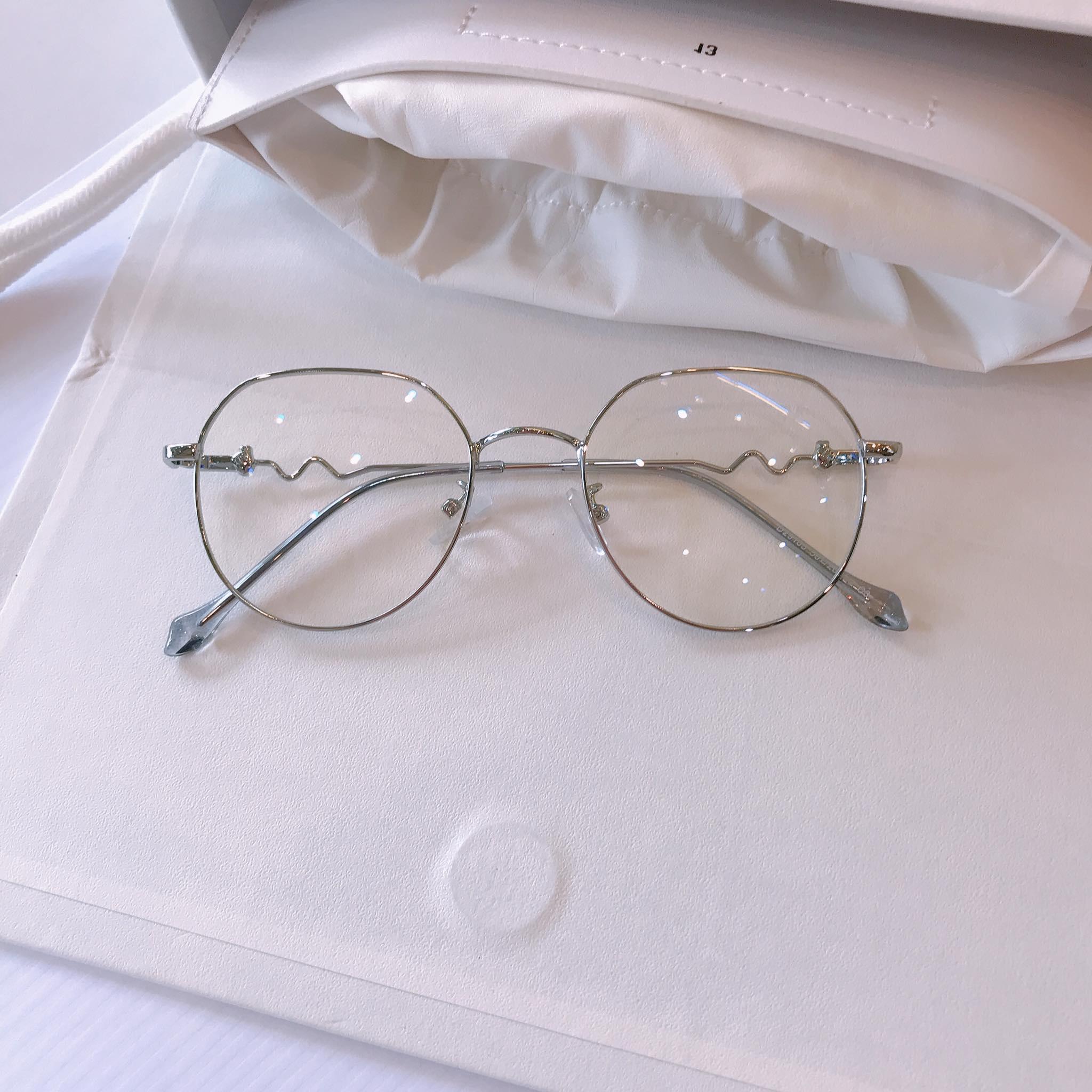Gọng kính xinh vintage Kim loại Hàn Quốc cao cấp