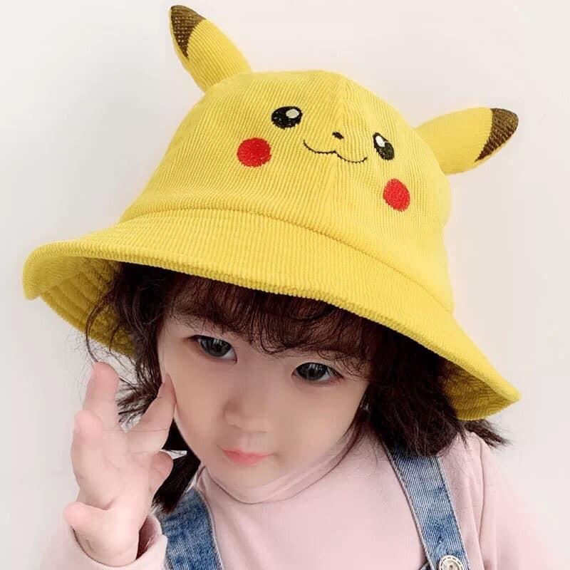 Mũ vành tròn tai pikachu xinh xắn cho bé