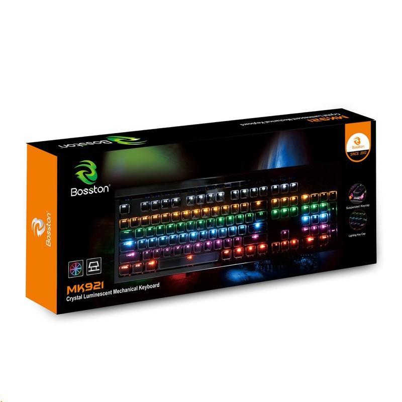 Bàn phím cơ Bosston MK921 Full LED - Hàng chính hãng