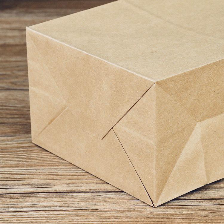 100 Túi giấy trắng đựng bánh mì SOS (Có đáy)