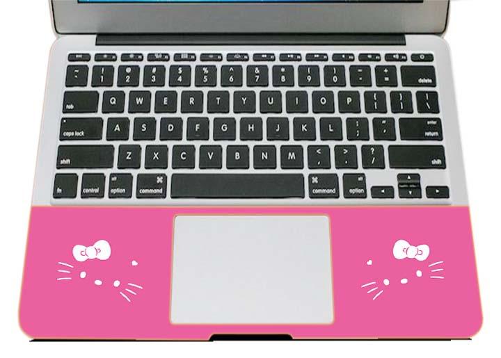Miếng Dán Trang Trí Mặt Ngoài + Lót Tay Laptop Hoạt Hình LTHH - 652