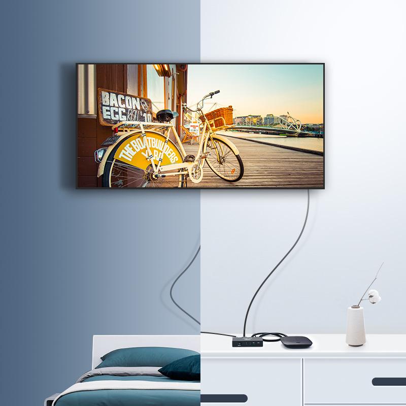 Bộ chia cổng HDMI 1 cổng ra 2 cổng Hỗ trợ full HD UGREEN 40201 - Hàng chính hãng