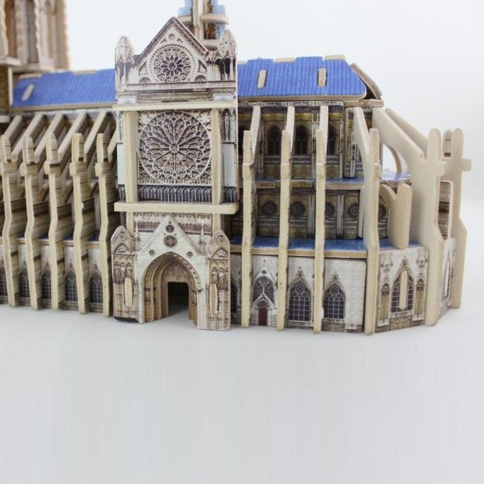 Đồ chơi lắp ráp gỗ 3D Mô hình Nhà thờ Đức Bà MJ404