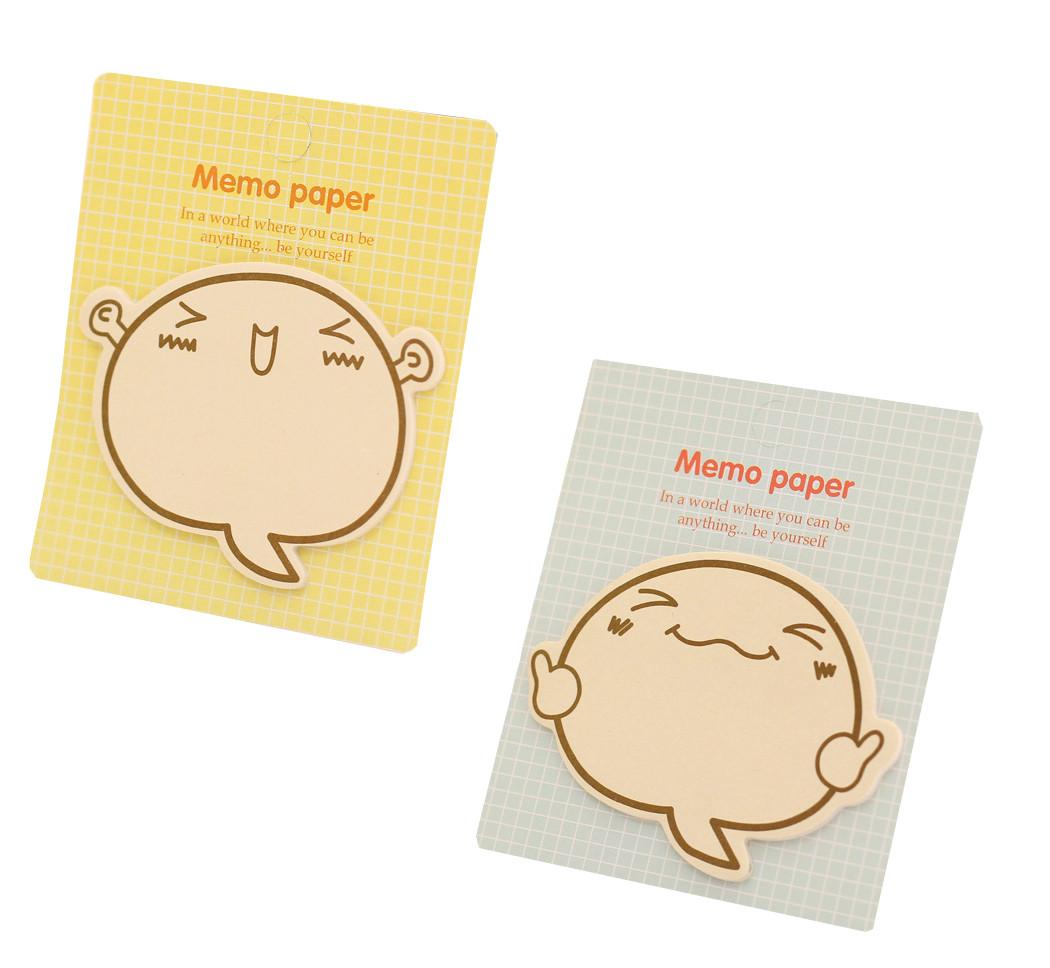 Bộ 2 giấy note ghi chú hoạt hình biểu cảm