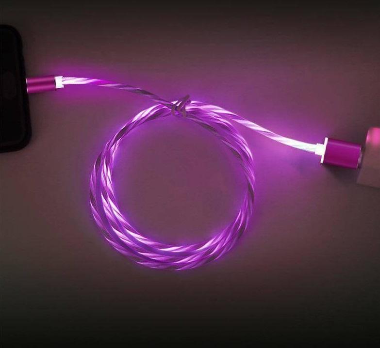 Dây sạc chuẩn kết nối MicroUSB phát sáng đầu nam châm hút.