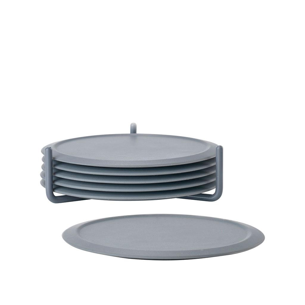 Bộ lót ly 6 chiếc kèm kệ, đường kính 10cm Zone Denmark