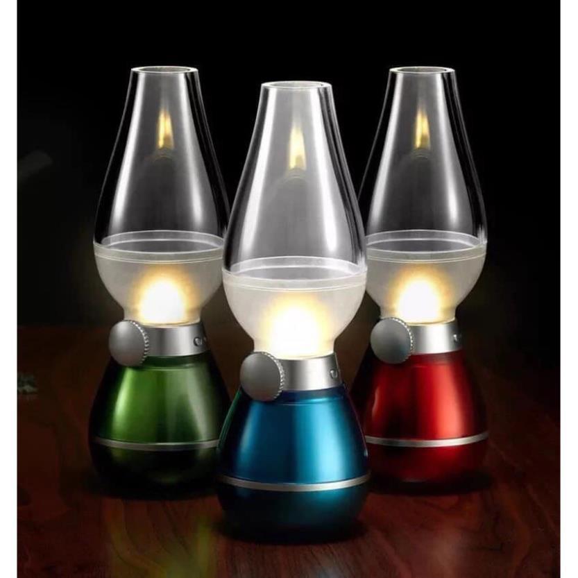 Đèn Dầu cảm ứng Điện Tử LED Thổi Tắt khi bật - Đèn dầu cảm ứng không khói khi thổi ( HÀNG ĐẸP )