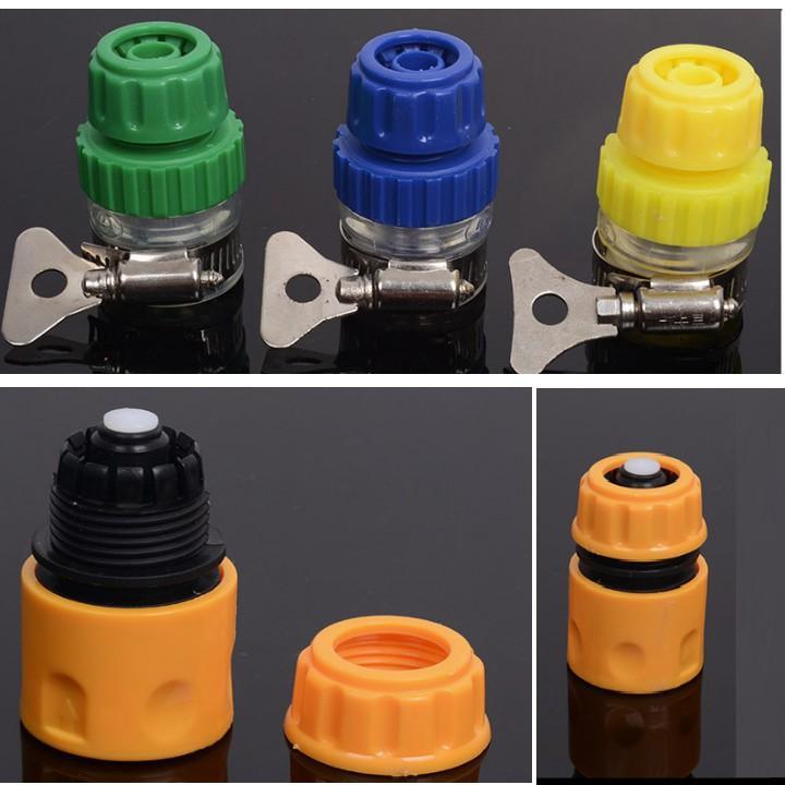 Bộ dây và vòi xịt rửa xe tưới cây tăng áp,vòi xịt rửa,vòi tưới cây 810-2576-1 (dây xám- cút nối đen)